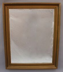 Turn Of The Century Simple Gilt Wood Vertical Beveled Wall Mirror 9628