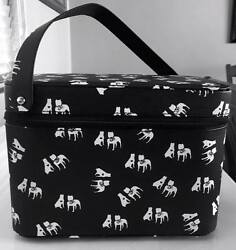 American Pitbull Terrier Makeup Train Case Craft Case Sewing Case.