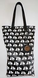 Customized Leather Bucket American Pit Bull Terrier Handbag.