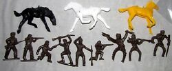 Tim-mee Toys Reissue Pioneers 9 In All 9 Poses + 3 Horses In 3 Poses    G