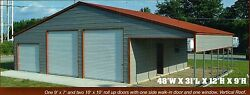 48x31 Metal Carport Garage All Steel Storage Building INSTALLED View our STORE