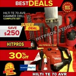 Hilti Te 70 Atc-avr Great Condition Free Laser Meterbits And Chisels Fast Ship