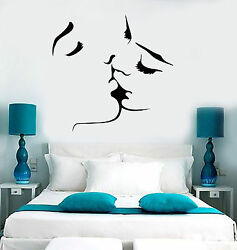 Vinyl Wall Decal Kissing Couple Love Romantic Bedroom Stickers ig3715