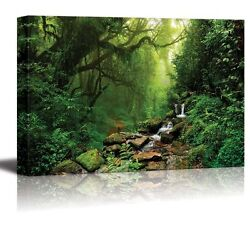 Wall26 Canvas Wall Art Prints Forest of Nepal Modern Wall Decor 24quot; x 36quot;