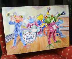Froggy Band Wil Zender Photographic Print Animal Frog Jazz Music Drum Piano