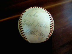 Willie Mays Best Wishes Ny Giants Hof Signed Auto Vintage Giles Baseball Psa/dna
