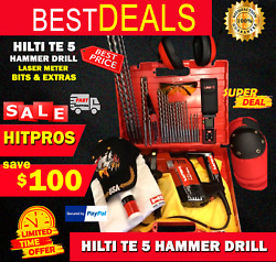 Hilti Te 5 Preowned, Free Laser Meter, Bits, Lot Of Extras, Fast Ship