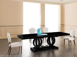 Dining Table - Modern Dining Room Table - Birch Wood- Black Dining Table Camilla