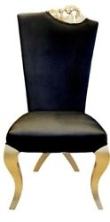 Chair - Modern Dining Room Chair - Solid Wood - Accent Chair - - Black