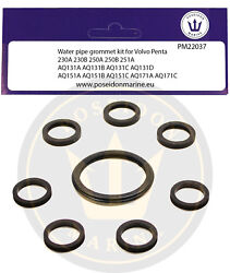 Cooling Pipe Gaskets For Volvo Penta 230a,b Aq131 Aq151 Aq171 Water Pipe 18-3889