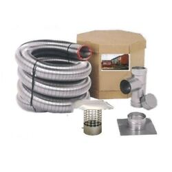 Smoothwall Double Ply Stainless Steel Chimney Liner Kit - 8 X 50'