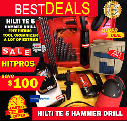 Hilti Te 5 Preowned, Free Thermo, Tool Organizer, A Lot Of Extra, Fast Ship