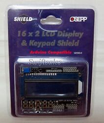 Osepp 16x2shd-01 16 X 2 Lcd Display And Keypad Arduino Shield - New In Package