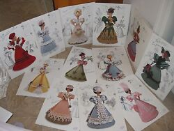 Annies' Attic Crochet Patterns For Bed Doll Gowns 1994 Collection