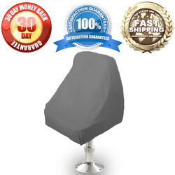 Waterproof Pontoon Boat Seat Chair / Center Console / Bench Seat Cover Grey