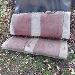 1961 Galaxie Starliner Complete Factory Oem Rear Seat W/ Nos Fit
