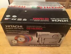 Hitachi Dzhs300a Dvd Hybrid Camcorder With 25x Optical Zoom And 8gb Hard Disc Driv