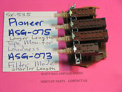 Pioneer Asg-075 Sx-535 Only And Asg-073 Push Switch Pair Sx-535 Sx-636 Receivers