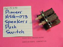 Pioneer Asg-073 Speakers Push Switch Pair Sx-535 Sx-636 Stereo Receivers