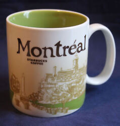 2012 Starbucks Montreal Canada Icon Mug 16oz. Excellent Condition Never Used