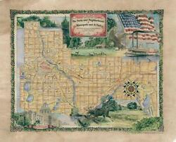 152 Parks Neighborhoods Of Mn St.paul Vintage Historic Antique Map Poster Print