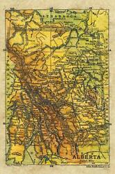13 Alberta Canada Vintage Historic Antique Map Painting Poster Print