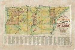 164 Colville Wa Vintage Historic Antique Map Painting Poster Print