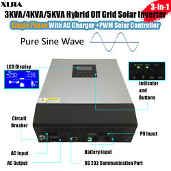 3KVA/4KVA/5KVA hybrid pure sine wave inverter with charger+solar controller