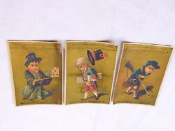 Lot Of 3 Victorian Trade Cards Boys Civil War Soldier Rifle Playing Cards F44