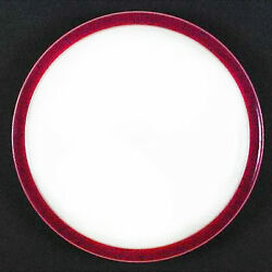 Denby Harlequin Salad Plate 8.5 Diameter Red Out/ White Centre New Never Used