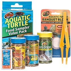 Zoo Med Aquatic Turtle Food Sampler Value Pack Free Shipping in USA