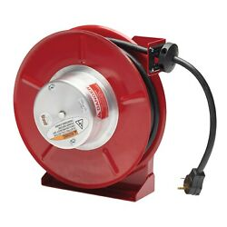 Reelcraft L-5750-103-4 Rv Power Cord Reel 10 Awg/3 Cond X 50and039 30 Amp With Cord