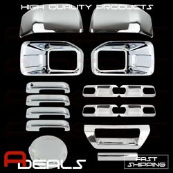 Chrome Covers 15-16 Ford F150 Fog Lamp/mirror/handles/4 Door Plates/gas/tailgate