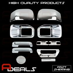 Chrome Covers 15-16 Ford F150 Fog Lamp+mirror/2 Handle/2 Door Bowls/gas/tailgate