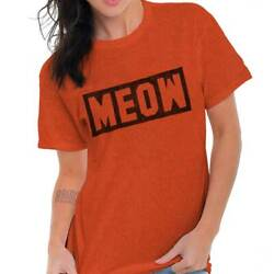 Meow Cattitude Cat Lady Workout Fitness Gym Womens Graphic Crewneck T Shirt Tee