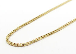 Authentic 14k Yellow Gold Box Chain 20andrdquo 1.7mm Wide