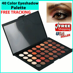 Eyeshadow Palette Makeup Cream Eye Shadow Shimmer Set 40 Color Matte Cosmetic $6.19