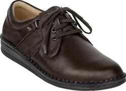 Finn Comfort Shoes 96100 Kaffee Leather Women's Men's Lace Up Unisex Extra Wide