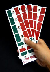 40 Removable Stickers: Mexico Flag: Mexican Party Favors Decals