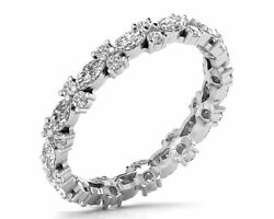 1.20ct Round Brilliant Cut And Marquise Diamonds Full Eternity Ring In 18k Gold