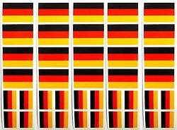 40 Removable Stickers: German Flag Germany Party Favors Decals