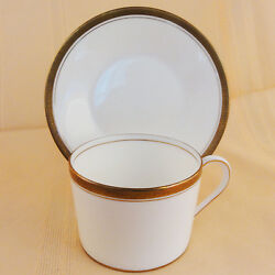 Elite Gold Coalport Cup And Saucer Can Shape New Never Used England Bone China