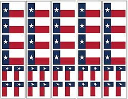 40 Removable Stickers: Texas State Flag Texan Party Favors Decals