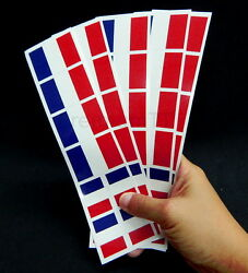 40 Removable Stickers: French Flag France Party Favors Decals
