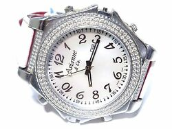 Avianne And Co Menand039s Diamond Flip Double Side Dual Stainless Steel Unique Watch