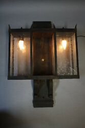 1 Of 2 1950s Large Wall Mounted Exterior Light Antique Outdoor Lighting 9903