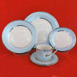 Blue Frost 5 Piece Place Setting Lenox Ivory Bone China New Never Used Made Usa