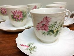 A. Giraud And Brousseau Limoge France 1 Demitasse Cup Saucer Handpainted Floral