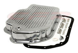 Polished Aluminum Transmission Pan Kit For Chevy Gm Th-400 Turbo Transmissions