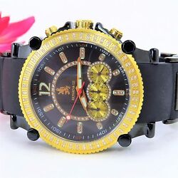Richard And Company Menand039s Dia Chronograph Watch 1.00 Ctw Black Rc3017d2- Must Sell